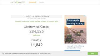 Coronavirus Update (Live) - Worldometer