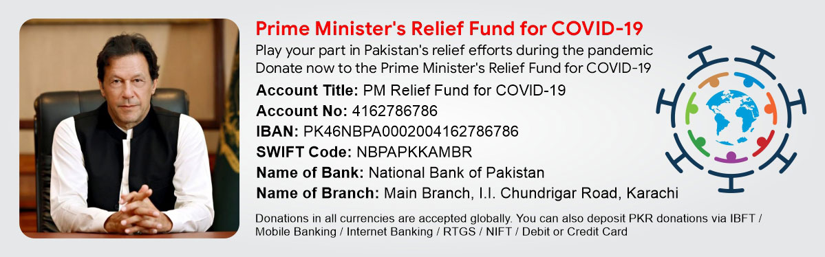 COVID 19 Pakistan PM Relief Fund