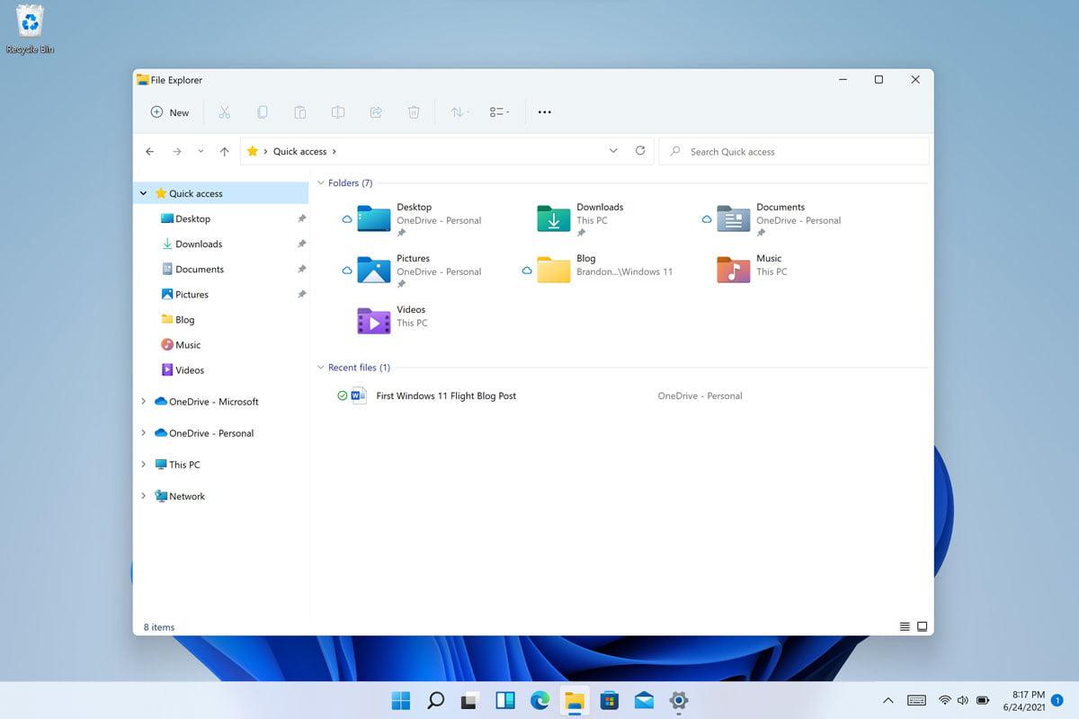 Windows 11 File Explorer Command Bar